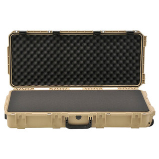 SKB iSeries 3614-6 Waterproof Case (With Layered Foam), Tan - Front Open