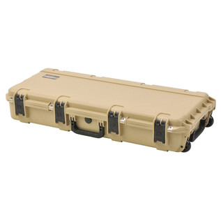 SKB iSeries 3614-6 Waterproof Case (With Layered Foam), Tan - Angled Closed