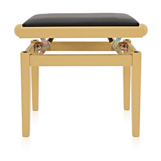 Adjustable Piano Stool by Gear4music, Light Cherry