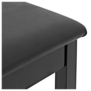 Piano Stool with Storage by Gear4music, Gloss Black