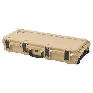 SKB iSeries 3614-6 Waterproof Utility Case (Empty), Tan - Angled Closed 2