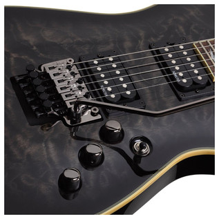 Schecter Omen Extreme-6 FR Electric Guitar, See-thru Black