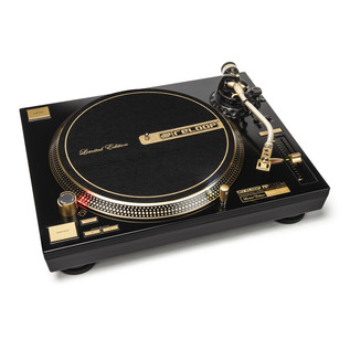 Reloop RP-7000GLD Direct Drive Turntable, Gold - Angled