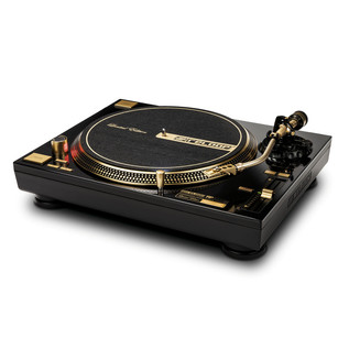 Reloop RP-7000GLD Direct Drive Turntable, Gold - Angled Flat