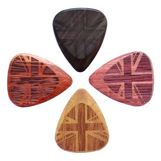 Timber Tones Flag Tones Guitar Picks, Mixed Players Pack of 4