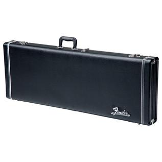 Fender American Standard Jazz Bass, MN, Black - Case Front