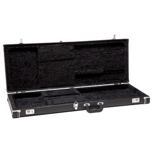 Fender American Standard Jazz Bass, MN, Black - Case Open