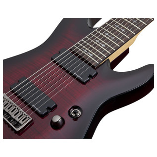 Schecter Demon 8 Crimson Red Burst