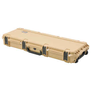 SKB iSeries 4214-5 Waterproof Case (With Layered Foam), Tan - Angled Flat
