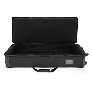 61 Key Lightweight Keyboard Case with Wheels by Gear4music