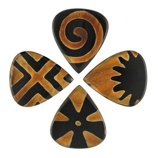 Timber Tones Tribal Tones Guitar Picks, Players Mixed Pack of 4