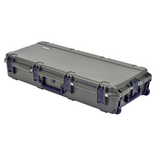 SKB iSeries 4217-7 Waterproof Case (With Layered Foam), Olive Drap - Angled Flat