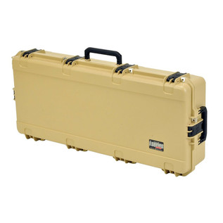 SKB iSeries 4217-7 Waterproof Case (With Layered Foam), Tan - Angled