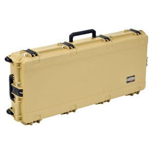 SKB iSeries 4217-7 Waterproof Case (With Layered Foam), Tan - Angled 2