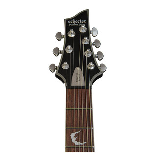 Schecter Damien Platinum-7 Left Handed Electric Guitar, Satin Black