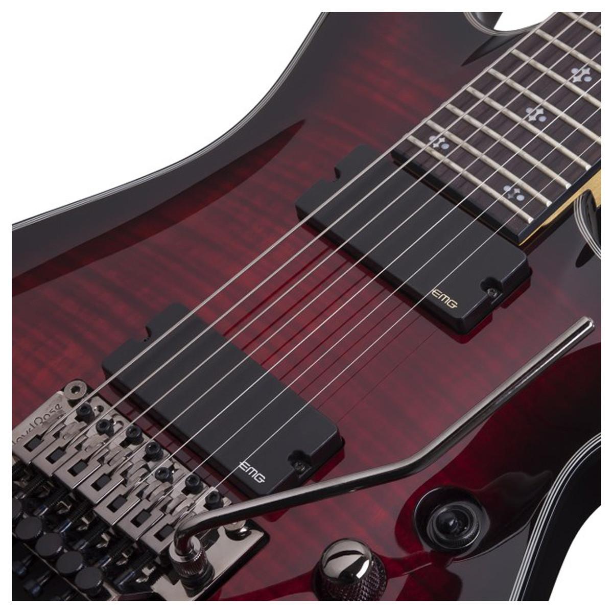schecter damien elite 6 fr electric guitar crimson red burst at. Black Bedroom Furniture Sets. Home Design Ideas