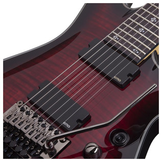 Schecter Damien Elite-6 FR Electric Guitar, Crimson Red Burst