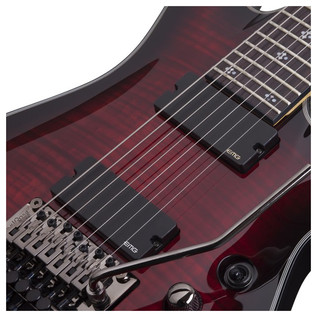 Schecter Damien Elite-7 FR Electric Guitar, Crimson Red Burst