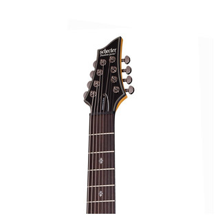Schecter Damien Elite-8 Electric Guitar, Trans Black Burst