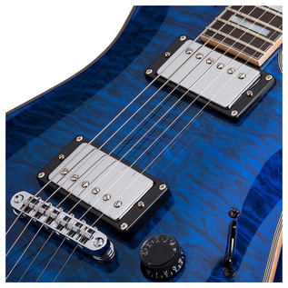 Schecter C-1 Custom Electric Guitar, Trans Midnight Blue