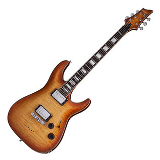 Schecter C-1 Custom Electric Guitar, Natural Vintage Burst