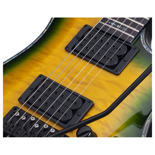 Schecter Hellraiser C-1 FR Passive Electric Guitar, Dragon Burst