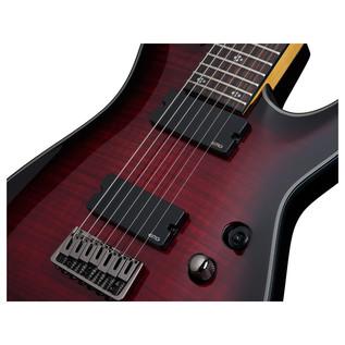 Schecter Damien Elite-7 Electric Guitar, Red