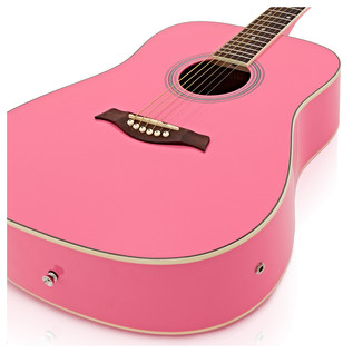 Dreadnought Electro Acoustic Guitar by Gear4music, Pink
