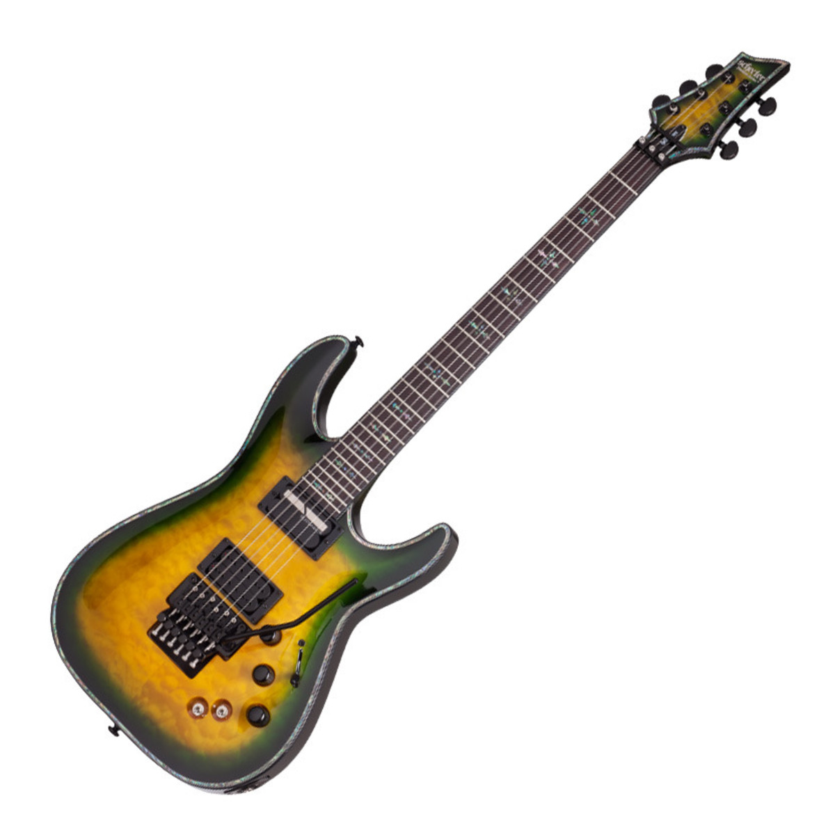 schecter hellraiser c 1 fr s passive electric guitar dragon burst at. Black Bedroom Furniture Sets. Home Design Ideas