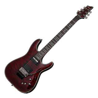 Schecter Hellraiser C-1 FR S Passive Electric Guitar, Black Cherry