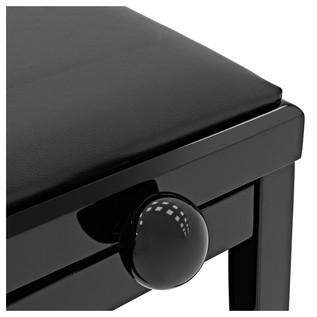 Adjustable Piano Stool by Gear4music, Polished Ebony