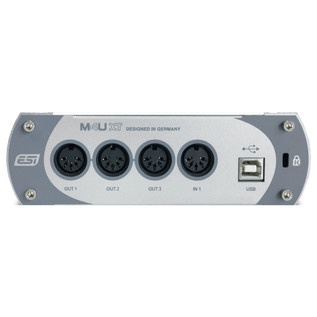 ESI M4U XT MIDI Interface - Rear