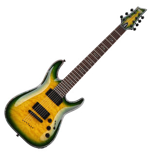 Schecter Hellraiser C-7 Passive Electric Guitar, Dragon Burst