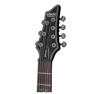 Schecter Hellraiser C-7 Passive Electric Guitar, Satin Black