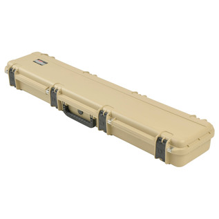 SKB iSeries 4909-5 Waterproof Case (With Layered Foam), Tan - Angled Closed