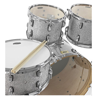 WHD Birch 5-Piece Swing Drum Kit, Silver Sparkle