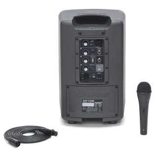 Samson XP106 Portable PA System - Rear With Mic