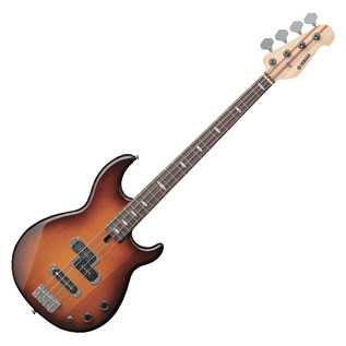 Yamaha BB1024 4-String Bass Guitar, Tobacco Brown Sunburst - Angled Front