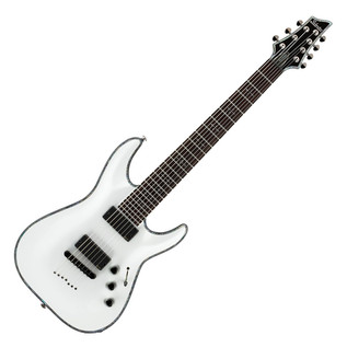 Schecter Hellraiser C-7 Electric Guitar, Gloss White
