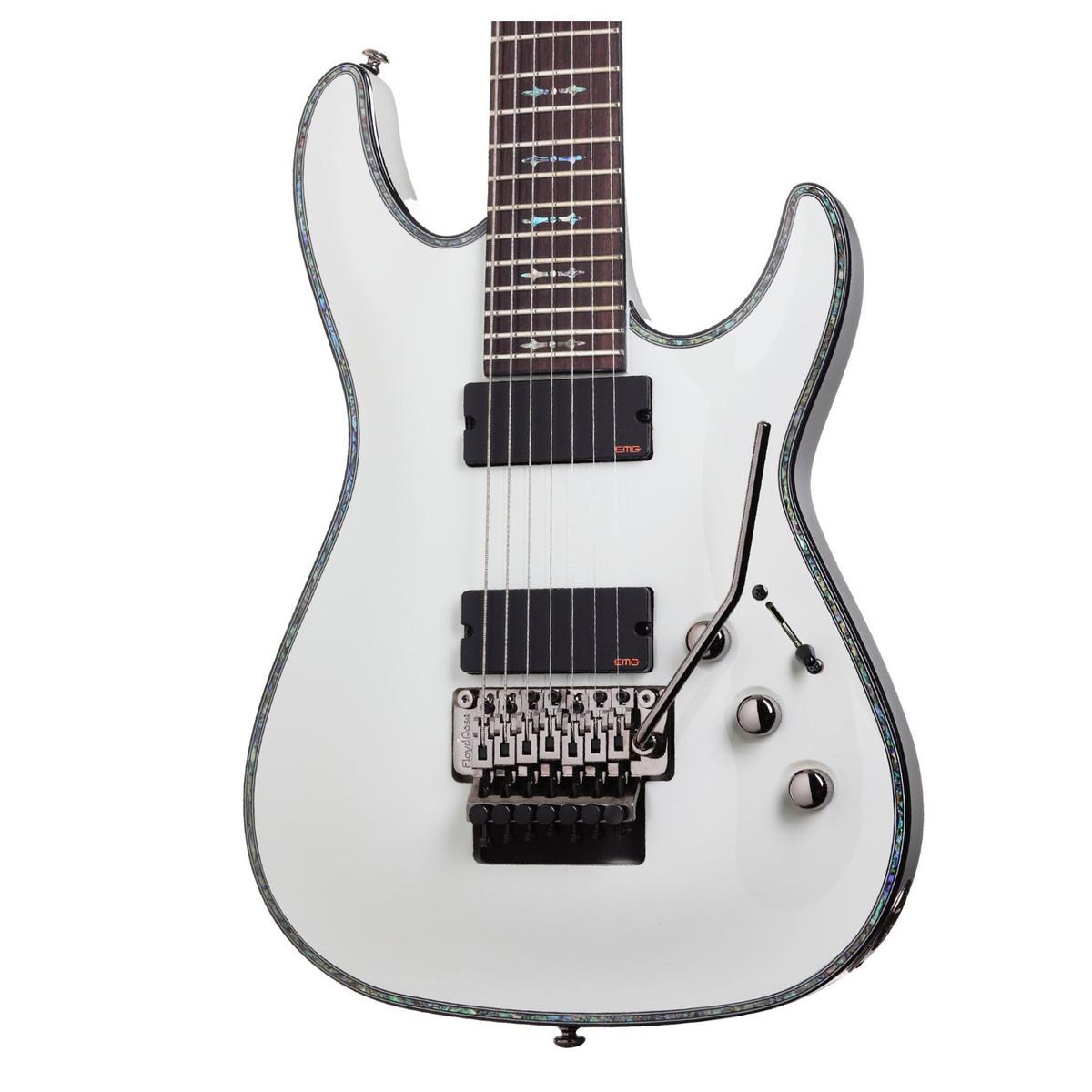 schecter hellraiser c 7 fr electric guitar gloss white at. Black Bedroom Furniture Sets. Home Design Ideas