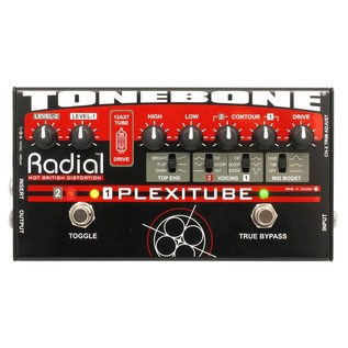 Radial Tonebone Plexitube 12AX7 Tube Distortion Pedal Front