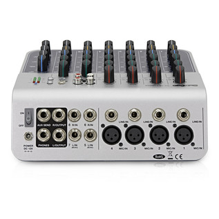 SubZero SZ-MIX08USB 8-Channel Mini Mixer with USB by Gear4music