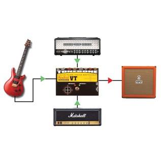 Radial Tonebone Headbone VT Valve Tube Head Switcher Example Setup