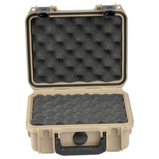 SKB iSeries 0907-4 Waterproof Case (With Layered Foam), Tan - Front Open