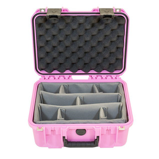 SKB iSeries 1309-6 Waterproof Case (With Dividers), Pink - Front Open