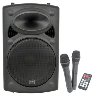 QTX QR15PA Portable PA System with Wireless Mics