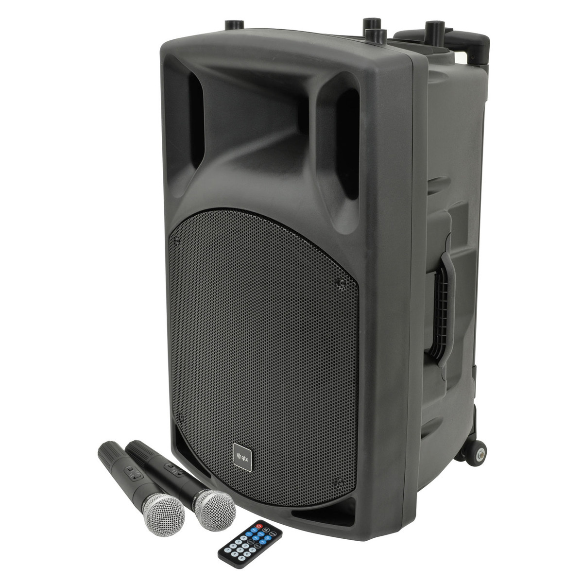 qtx qx15pa portable pa system with bluetooth at. Black Bedroom Furniture Sets. Home Design Ideas