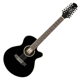 Ashton SL29/12CEQ Slimline 12 String Electro Acoustic Guitar, Black