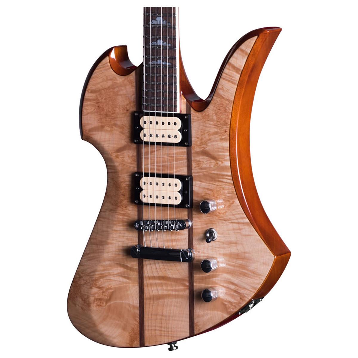 bc rich mockingbird mk9 guitar with hard case natural maple burl at. Black Bedroom Furniture Sets. Home Design Ideas