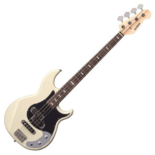 Yamaha BB424X 4-String Electric Bass Guitar, Vintage White - Front Angled